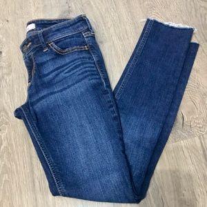 Hollister Dark Wash Jeans 00 Short Raw Hem
